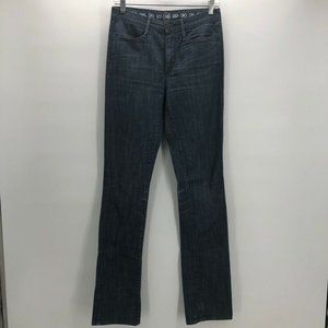 Earnest Sewn Womens Boot Cut Jeans Blue Denim 28